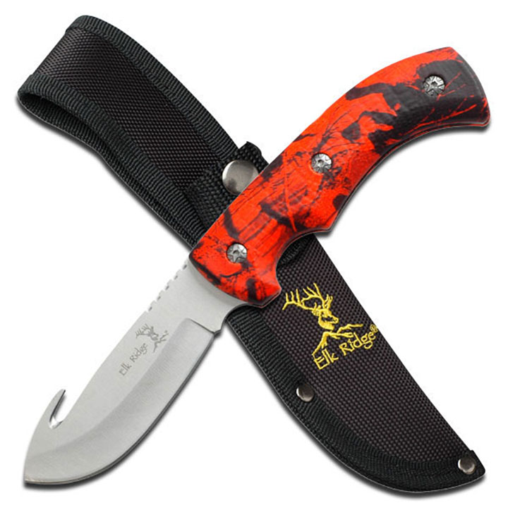 "Elk Ridge ER-274RC Fixed Blade 8.75"" Knife"