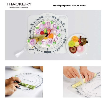 Thackery Cake Divider - multi-functional - up to 12 slices! For 6, 8 and 10