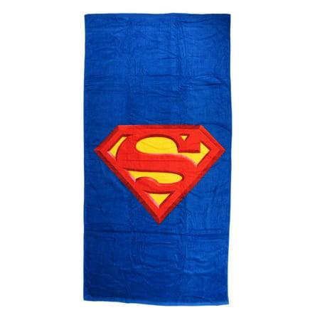 Superman Shield Beach Bath Gym Kids Adult Towel Blanket Cotton 60 x 30