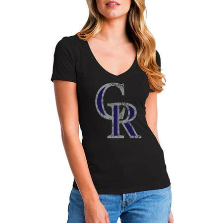 MLB Colorado Rockies Women's Short Sleeve Team Color Graphic Tee - Mlb Rockies