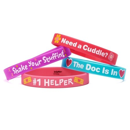 """Doc McStuffins Rubber Wristbands Birthday Party Accessory Favours Pack (4 Pack), Multi Color, 2 1/2"""" x 7/16"""". - image 2 of 3"""