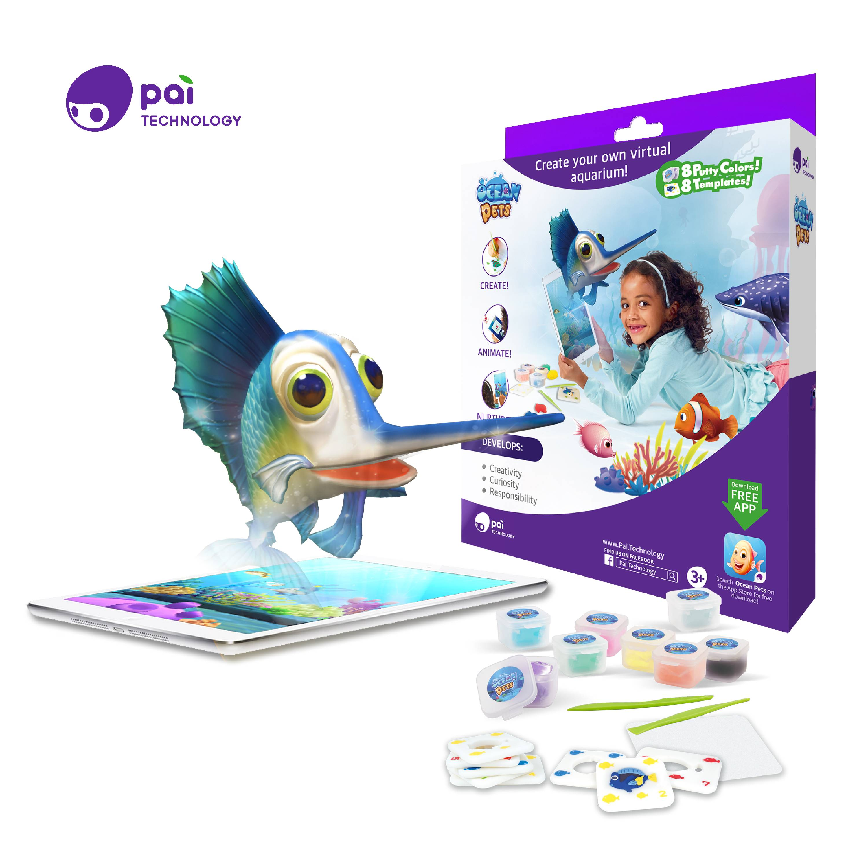 Pai Technology Ocean Pets AR Clay Craft Kit with FREE App