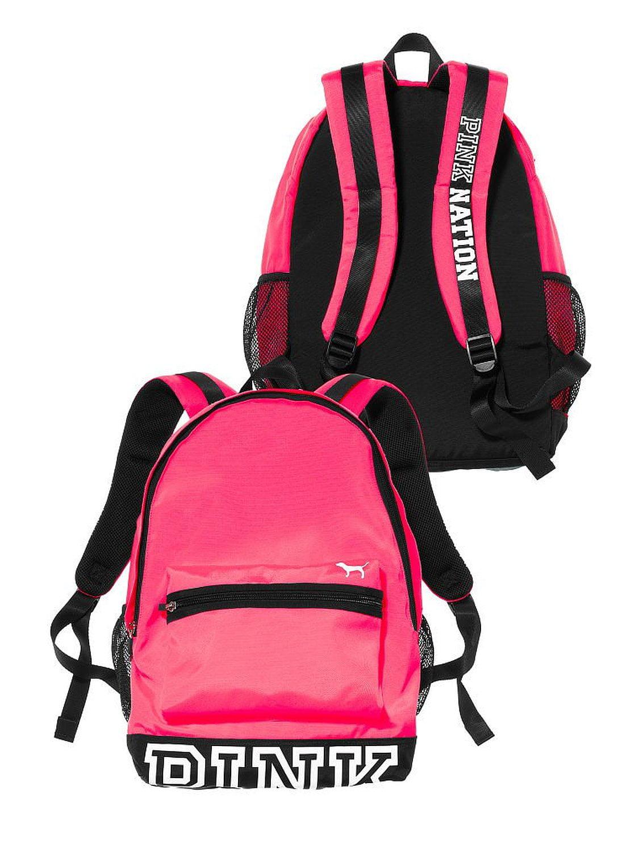 Victorias Secret PINK Campus Backpack Cupid Pink Tie Dye With Roses