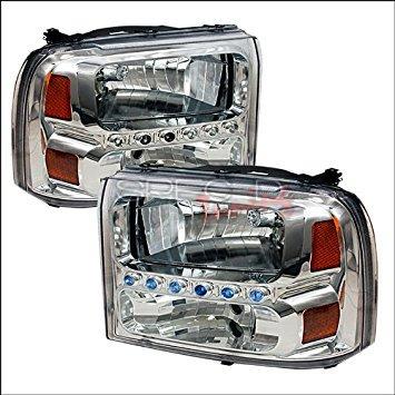 Spec-D Tuning Ford F-250 1999 2000 2001 2002 2003 2004 Euro Headlights - Chrome