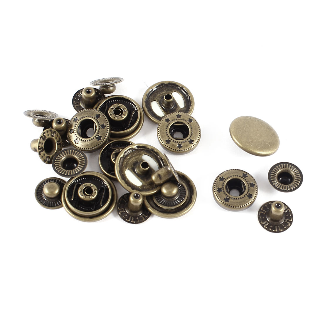 6sets Retro Style Snap Fasteners Popper Stud Press Sewing Buttons 17mm