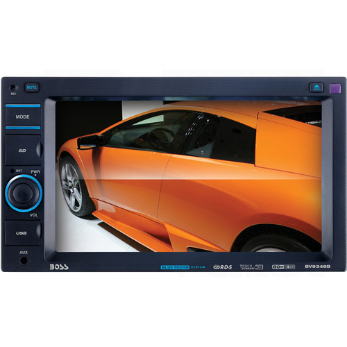 "Boss BV9348B 6.2"" Touch Mechless Double-DIN with USB/SD/AUX Input"