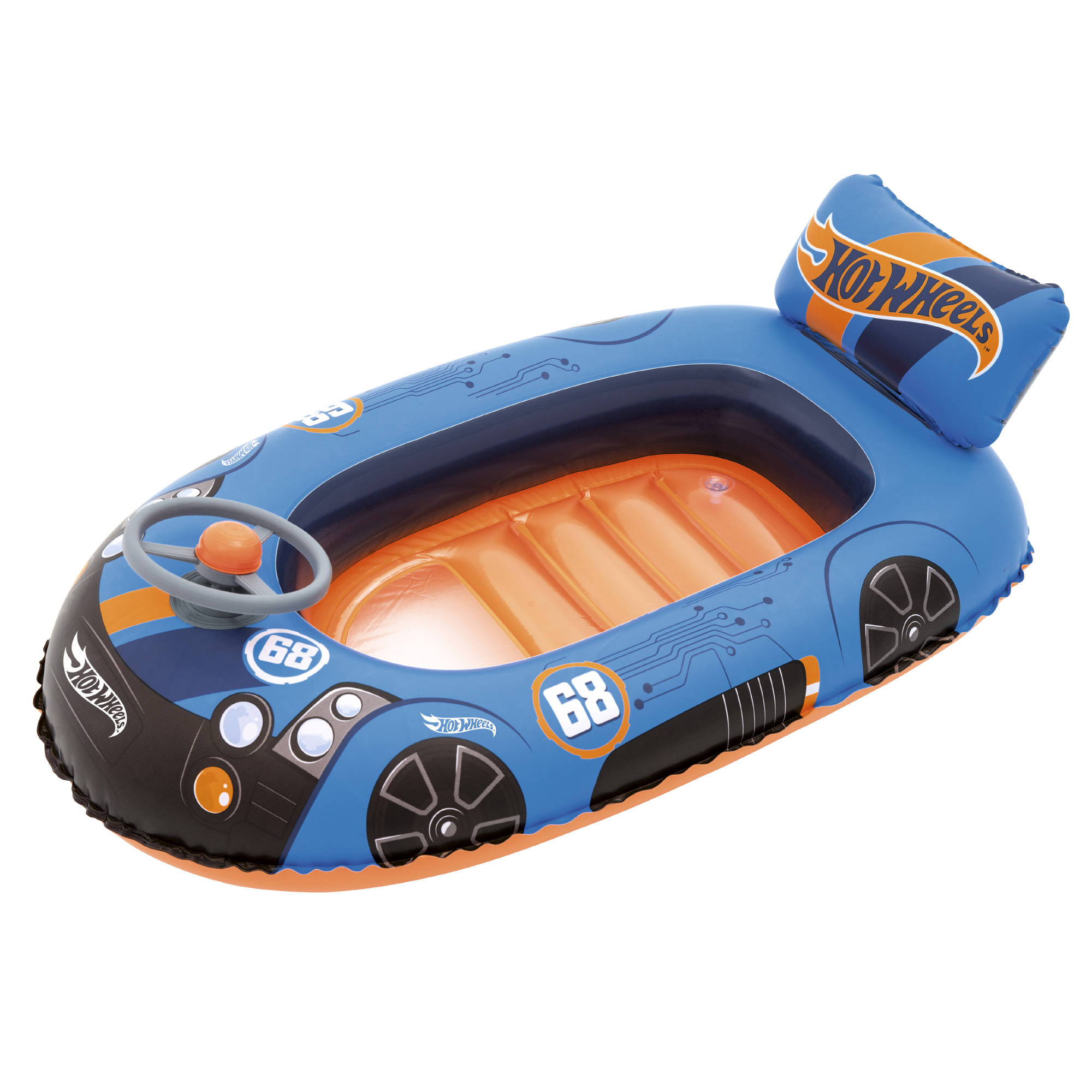 Hot Wheels Speed Boat Inflatable Pool Float - Walmart.com