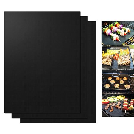 - 3pcs BBQ Oven Grill Mat Heat Resistant Non-Stick BBQ Grill Sheet Oven Pan Liners Baking Pad Mat