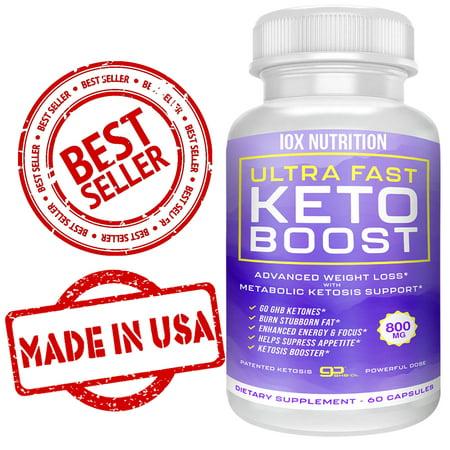 Best Ultra Fast Keto Boost Max Keto Diet Pills BHB Salts Advanced Ketogenic Supplement Exogenous Ketones Ketosis Weight Loss Fat Burner Carb Blocker Appetite Suppressant Men Women 60