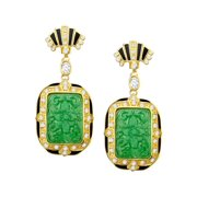 Green Quartz King's Garden Drop Earrings in 14kt Gold-Plated Sterling Silver
