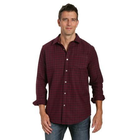 Noble Mount Mens 100% Cotton Flannel Shirt - Regular Fit ()