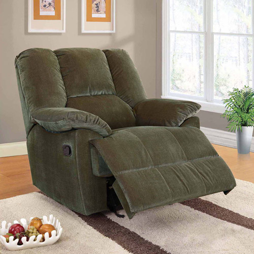 Oliver Collection Corduroy Glider Recliner, Multiple Colors