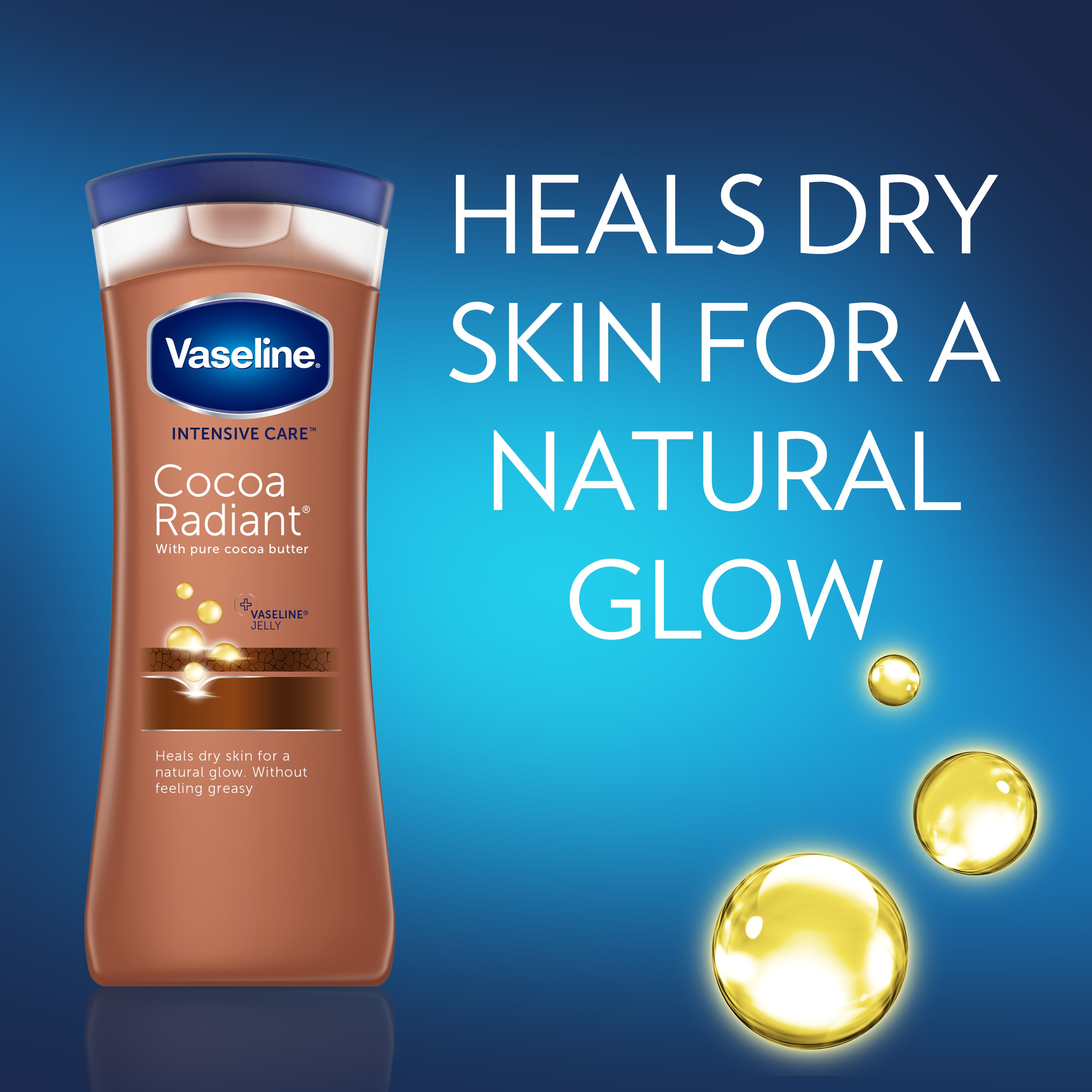 Vaseline Intensive Care Body Lotion Cocoa Radiant 10 Oz Healthy White Perfect 200ml Twin Pack