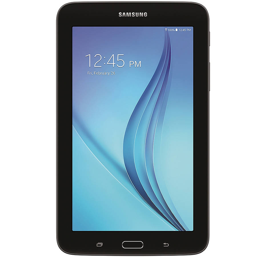 "Samsung Galaxy Tab E Lite with WiFi 7"" Touchscreen Tablet PC Featuring Android 4.4 (KitKat) Operating System, Black"