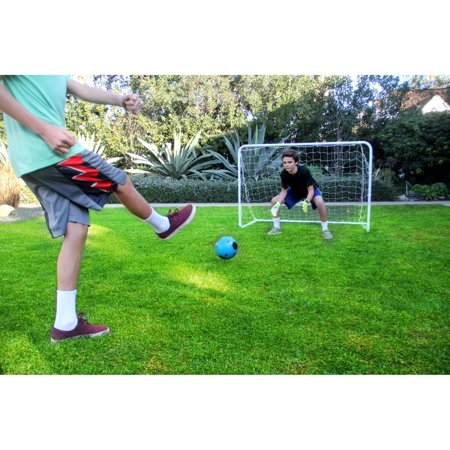 Athletic Works 6' x 4 Junior Soccer Goal for Kids ( Includes Velcro (Best Kids Soccer Goals)