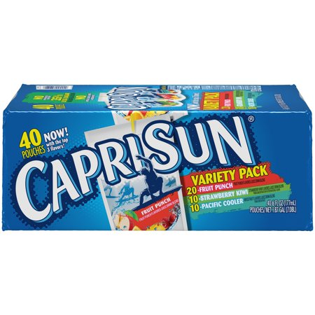 Kiwi Juice - Capri Sun Fruit Punch, Strawberry Kiwi & Pacific Cooler Juice Drink Variety Pack 40-6 fl. oz. Pouches