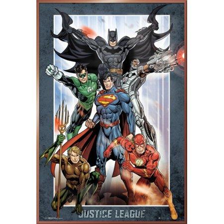 53e733e62cc9 Justice League Of America - JLA - Framed DC Comics Poster / Print (Superman,  Batman, The Flash, The Green Lantern & Aquaman) (Size: 24