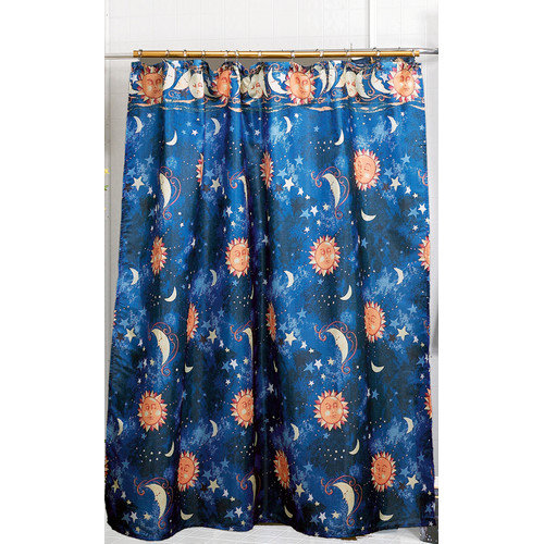 Carnation Home Fashions Solar Fabric Shower Curtain