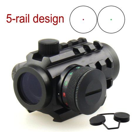Micro Red & Green Dot Reflex Sight Compact 1x20 Dual Illuminated /w 5-rail