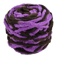 Festival Polyester Knitting DIY Hat Blanket Scarf Yarn Purple Dark Green 100g