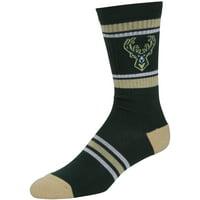 5d977bc30ca Product Image Milwaukee Bucks NBA Men s Large Green Stripe Crew Socks Fits  ...