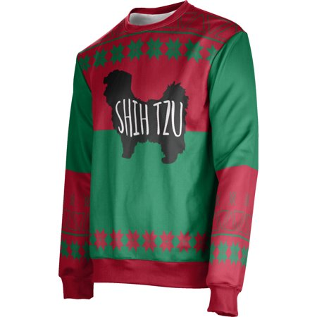ProSphere Men's Shih Tzu (Red) Ugly Holiday Jingle Sweater (Apparel) ()