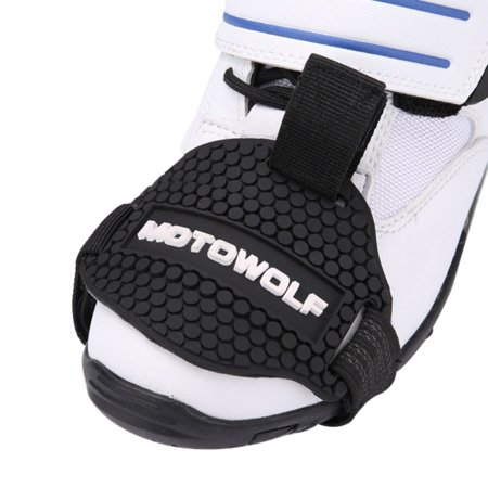 Motorcycle Gear Shift Pad,Rubber Gear Shift Shoes Boots Scuff Protector Shifter Guards Black (Motorcycle Shoe Protector)
