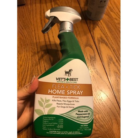 Vet's Best Natural Flea and Tick Home & Dogs Spray & Mosquito Repellent (Best Chickens For Tick Control)