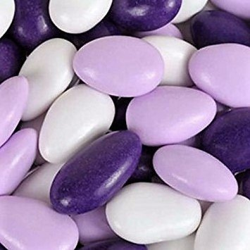 Green Almonds Gift Box - Jordan Almonds by Its Delish (Lavender, Purple and White, 1 lb)