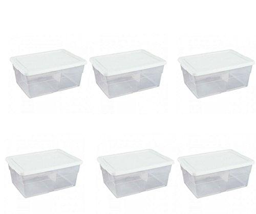 Sterilite 16 Qt. Storage Box, White (pack of 6), Heavy Ea...