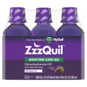 ZzzQuil Nighttime Sleep Aid Liquid by Vicks, Warming Berry Flavor, 36 Fl Oz