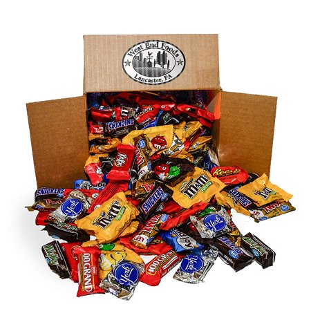 Assortment of Chocolate Halloween Candy (5.6 lb - Orange Wrapper Halloween Candy
