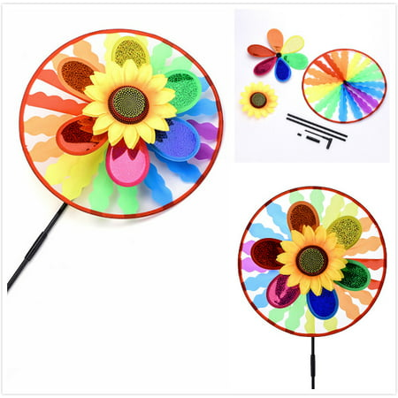 Large Copper Wind Spinner - MINI-FACTORY Large Colorful Wind Spinner Yard Garden Wind Spinner Decoration for Yard Garden Outdoor