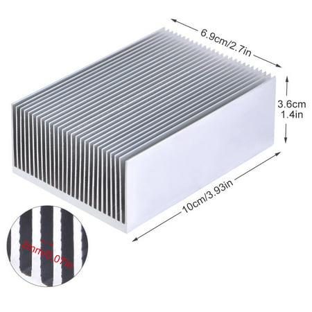 Ejoyous 1pc Aluminum Heatsink Heat Sink Cooling for Led Amplifier Transistor IC Module 100*69*36mm, Cooling Chip, Cooler - image 5 of 7