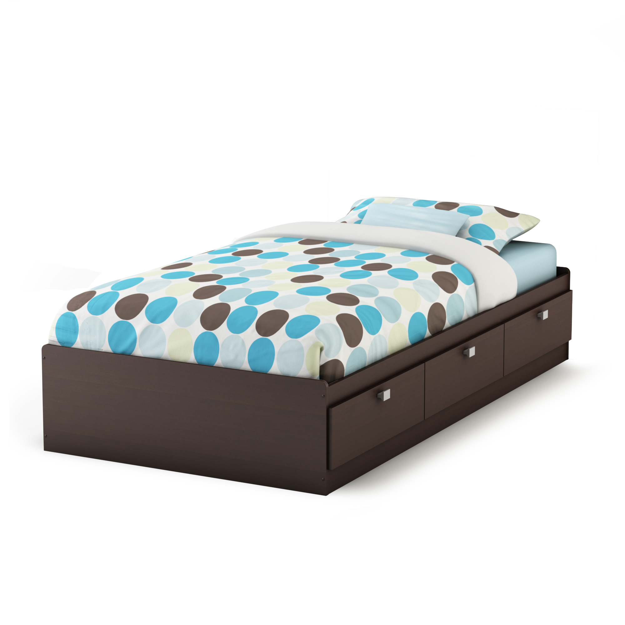 south shore spark twin 39 mates bed with 3 drawers multiple finishes walmartcom