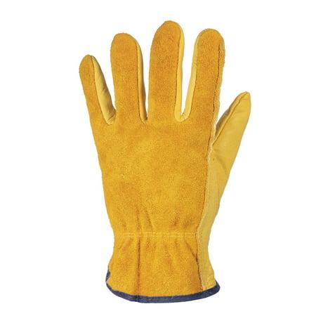 Leather Working Gloves Men S Work Cowhide Gloves Gardening Digging