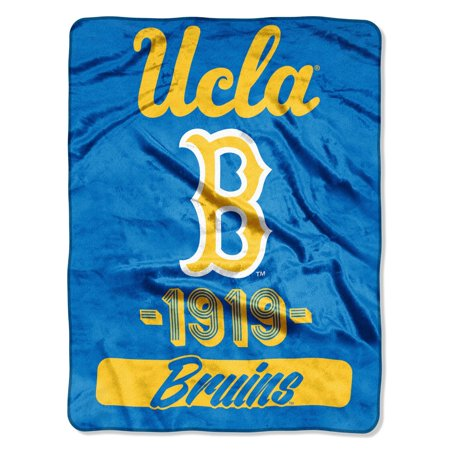 Ucla Bruins Ncaa Pattern - UCLA Los Angeles Bruins 1919 NCAA Plush Throw Blanket - 46 x 60 inches