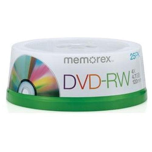 Memorex 32025562 Dvd-rw 4.7gb 25 Pack Spindle (05562)