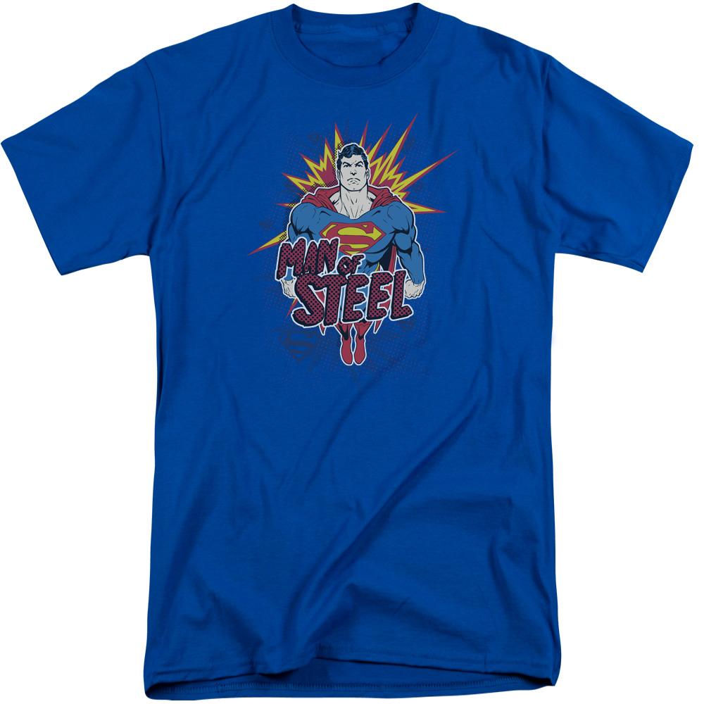 Superman Steel Pop Mens Big and Tall Shirt