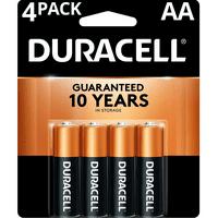 Duracell 1.5V Coppertop Alkaline AA Batteries 4 Pack