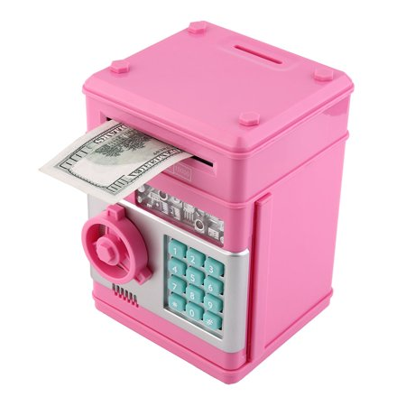 Kids Electronic Money Safe Box Password Saving Bank Atm For Coins And Bills Code Key Case System Money Saving Box