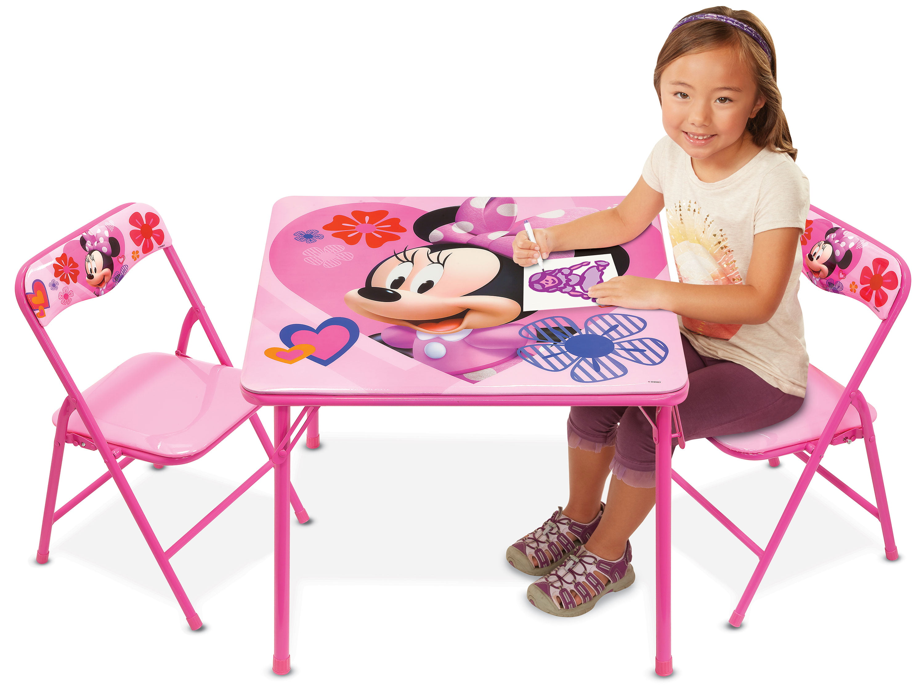 Minnie Mouse Happy Helpers Erasable Activity Table and Chairs Playset by Jakks Pacific