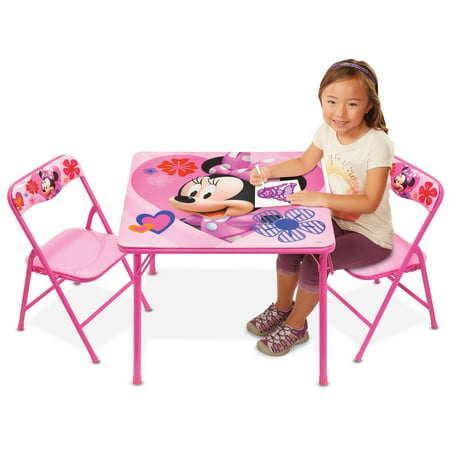 Minnie Mouse Happy Helpers Erasable Activity Table and Chairs Playset](Art Tables For Toddlers)