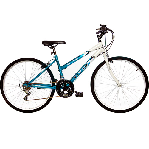 "26"" Titan Wildcat Women's Mountain Bike, Blue & White"