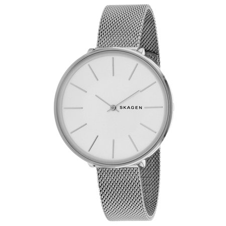 Analog White Dial Watch (Women's 38mm Steel Bracelet & Case Quartz White Dial Analog Watch SKW2687 )