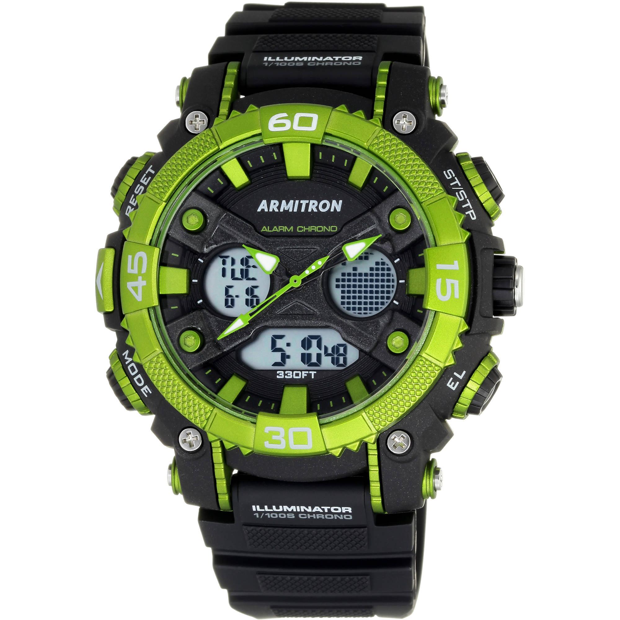 Armitron Men's Showcase Casual Watch, Resin Band
