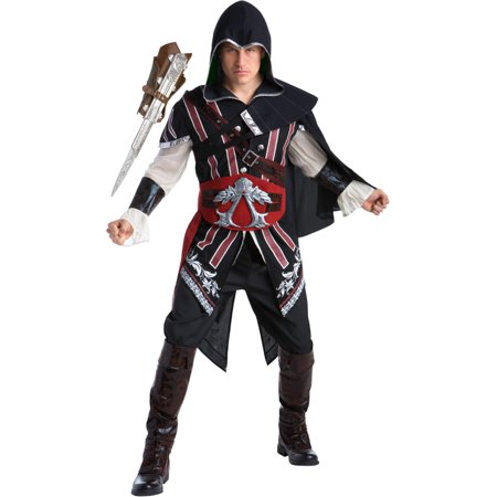 Assassin's Creed II Ezio Auditore Assassin Deluxe Mens Costume (Ezio Assassin's Creed Brotherhood Costume)