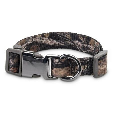 Vibrant Life Camo Dog Collar with Metal Clasp, Medium