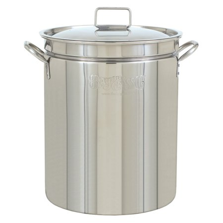 Bayou Classic Stainless Steel Stockpot with (Bayou Classic Iron)