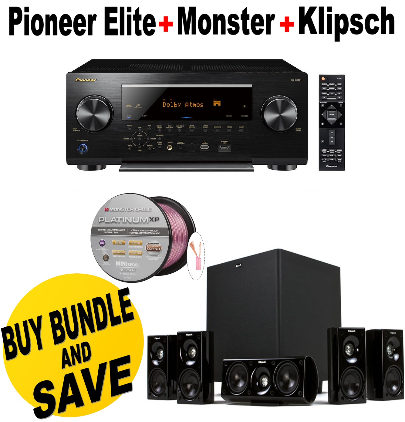 Pioneer SC-LX501 Elite 7.2 Channel D3 Network AV Receiver...